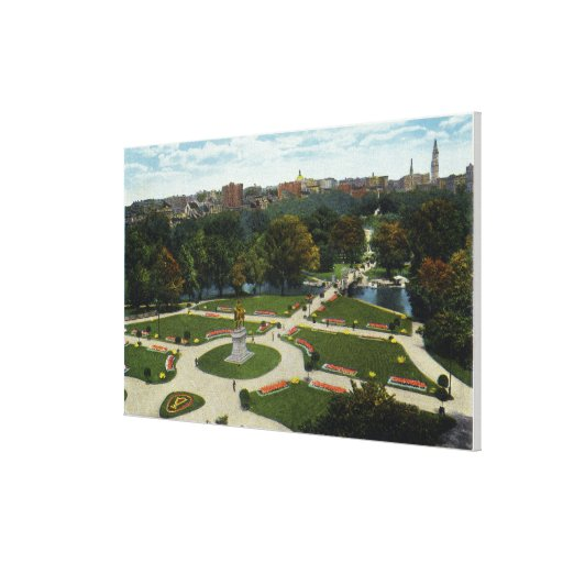 General View of the Public Garden Stretched Canvas Print