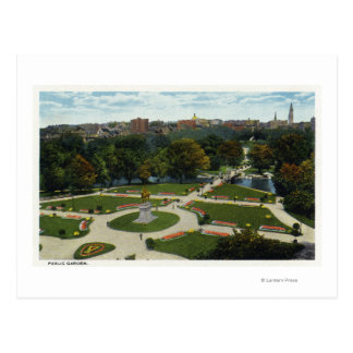 General View of the Public Garden Postcard