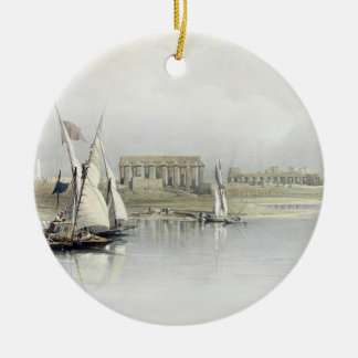 General View of the Ruins of Luxor from the Nile, Christmas Ornament
