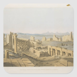 General View of the Ruins of the Great Temple of C Square Sticker