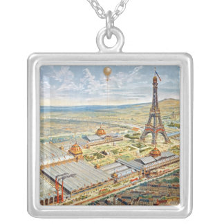 General View of the Universal Exhibition Silver Plated Necklace