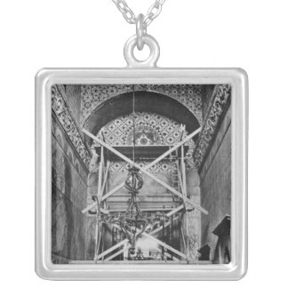 General view of the vestibule silver plated necklace