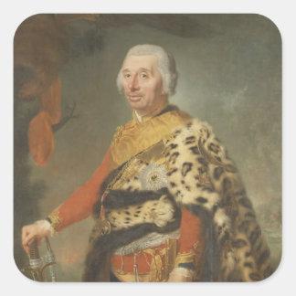 General von Zieten, 1769 Square Sticker