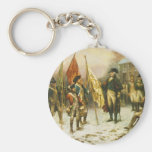 General Washington Inspecting the Captured Colours Keychains