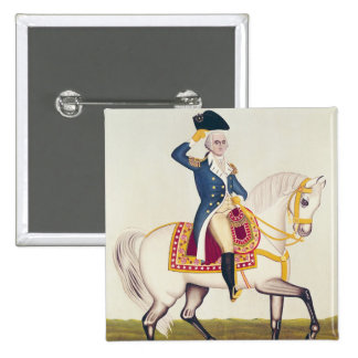 General Washington on a White Charger, c.1835 15 Cm Square Badge