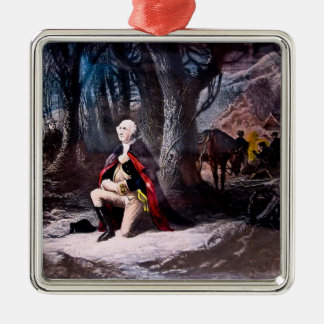 General Washington Praying at Valley Forge, PA Christmas Ornament