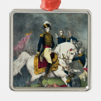 General William H. Harrison  at the Battle Christmas Ornament