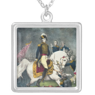 General William H. Harrison  at the Battle Silver Plated Necklace