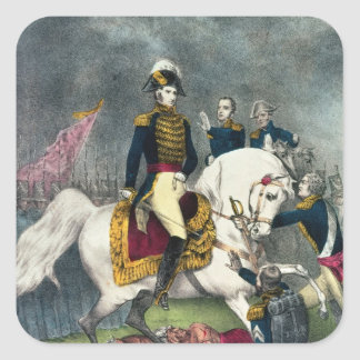 General William H. Harrison  at the Battle Square Sticker