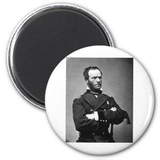 General William Tecumseh Sherman, 1865. 6 Cm Round Magnet