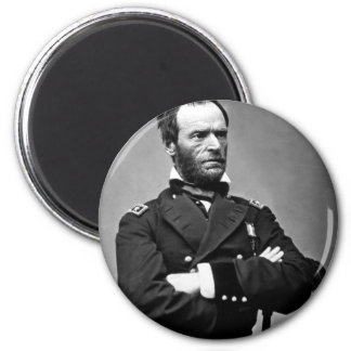 General William Tecumseh Sherman, 1865. 6 Cm Round Magnet
