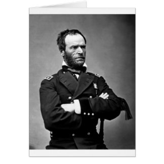 General William Tecumseh Sherman, 1865. Card