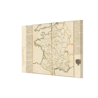 Generalities of France Canvas Print