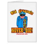 Generals Greeting Card