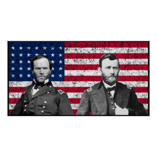 Generals Sherman and Grant Poster