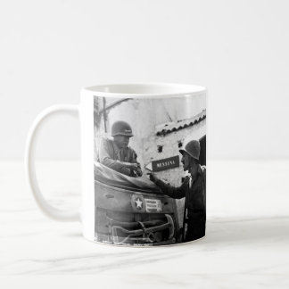 Generaly George S. Patton and Colonel Lyle Bernard Classic White Coffee Mug