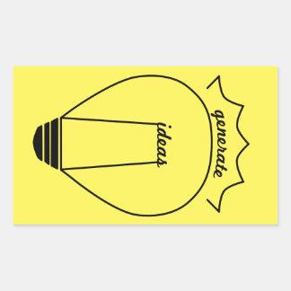Generate Ideas Rectangular Sticker