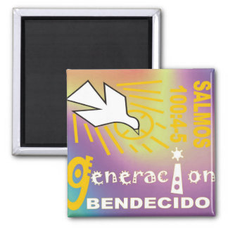 Generation Blessed Square Magnet