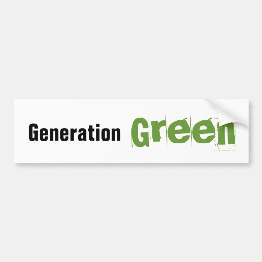 Generation Green Bumper Sticker