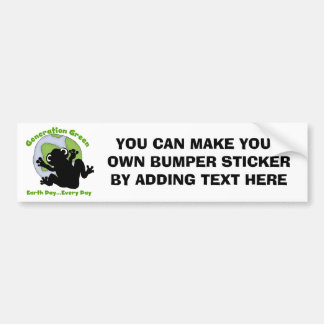 Generation Green T-shirts and Gifts Bumper Sticker