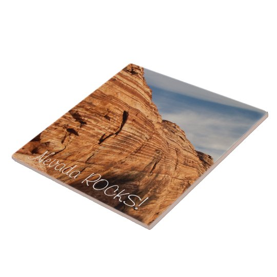Generations in Red Rock; Nevada Souvenir Large Square Tile