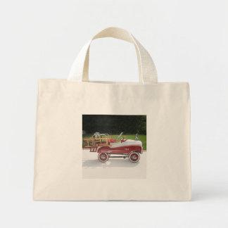 Generic Childs Metal Pedal Car Firetruck Car Mini Tote Bag