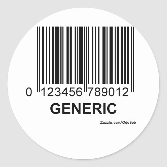 GENERIC CLASSIC ROUND STICKER