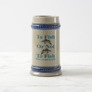 generic fish or not walleye beer stein