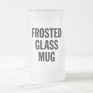 Generic Frosted Glass Mug