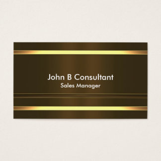 Generic gold effect bands business card
