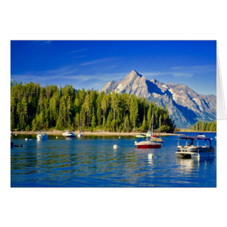 Generic Greeting card with Lake and Boats
