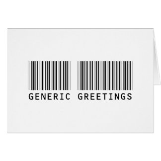 Generic Greetings from Random World Order Greeting Card