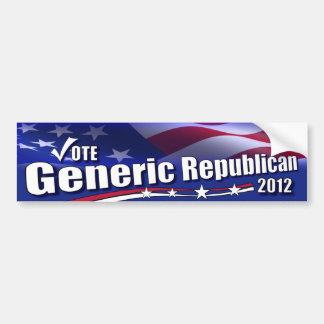 Generic Republican for President Bumper Sticker