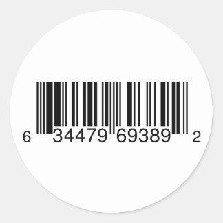 Generic UPC Symbol for CD Sales Round Sticker