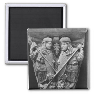 Generosity and Charity piercing two Vices Square Magnet