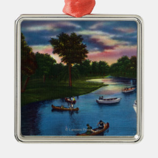 Genesee Valley Park Boating Scene Christmas Ornament