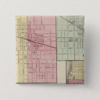 Geneseo, Kewanee, Cambridge, Fulton and Morrison 15 Cm Square Badge