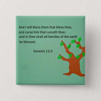Genesis 12:3 15 cm square badge