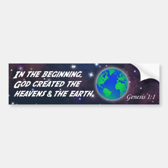 Genesis 1:1 In the beginning God - Earth