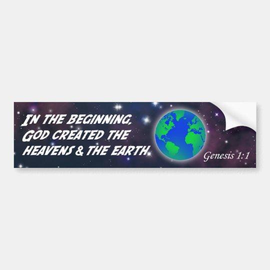 Genesis 1:1 In the beginning God - Earth