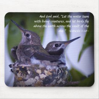 Genesis 1:20 Juvenile Hummingbirds Mousepad