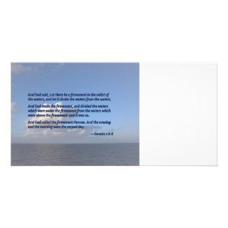Genesis 1 6-8 Let there be a firmament Photo Card Template