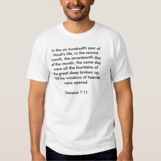 Genesis 7:11 Shirt