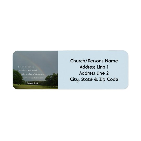 Genesis 9:13 Rainbow Return Address Labels