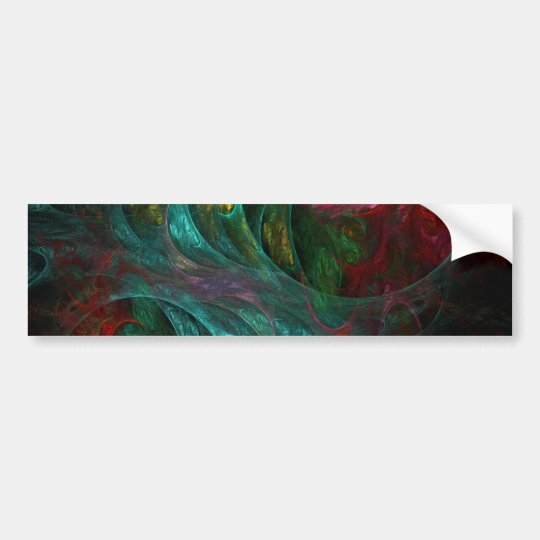 Genesis Abstract Art Bumper Sticker