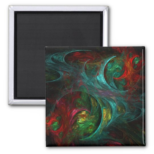 Genesis Abstract Art Square Magnet