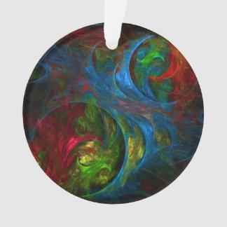 Genesis Blue Abstract Art Acrylic Circle Ornament