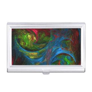 Genesis Blue Abstract Art Business Card Holder