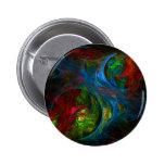 Genesis Blue Abstract Art Button (round)