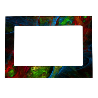 Genesis Blue Abstract Art Magnetic Frame